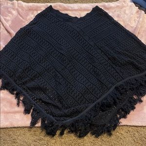 525 poncho black one size